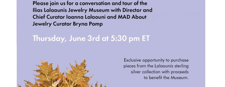 SPECIAL EVENT: Live from Athens: A tour by Ioanna Lalaouni of the Ilias Lalaounis Jewelry Museum